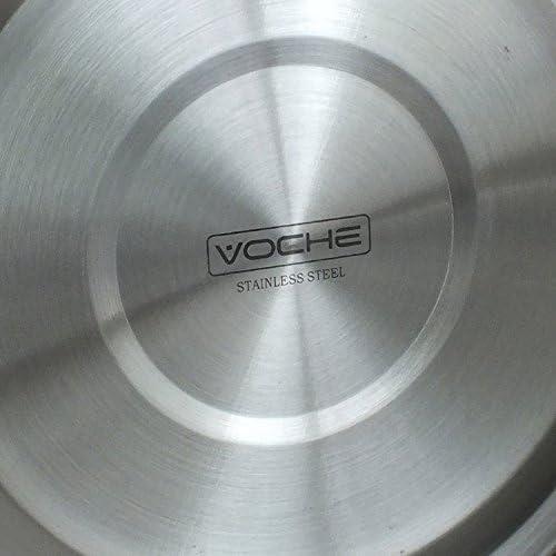 /électriques et /à induction convient pour plaques de cuisson /à gaz acier inoxydable et cuivre Voche/®-Bouilloire sifflante de 3,5/litres