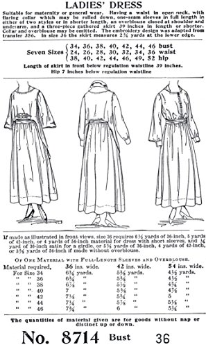 1916-17 Ladie's Dress Size 36 -