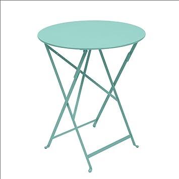 Tavoli Da Giardino Fermob.Fermob Tavolo Bistro D 60 Cm Blu Laguna Amazon It Giardino E