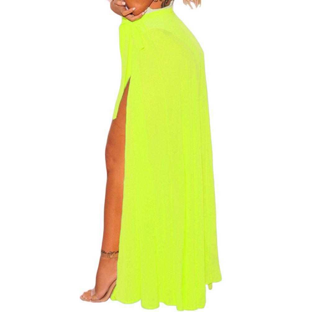 3b8350c2023 Eternatastic Womens Split Mesh Skirt Beach Cover up Maxi Skirt Bikini  Sarong M Black at Amazon Women s Clothing store