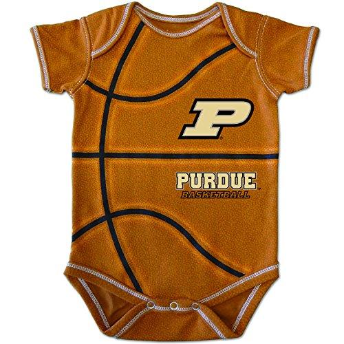 College Kids NCAA Purdue Boilermakers Infant MVP Basketball Bodysuit, 6 Months, Brown