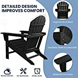 SERWALL Adirondack Chair | Adult-Size, Weather