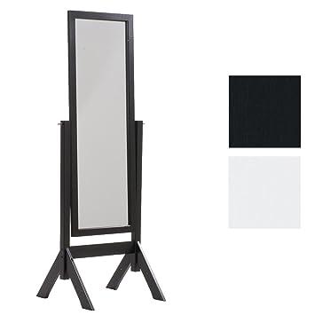 CLP Miroir sur Pied Elvis avec Cadre en Bois – Miroir sur Pied pour Chambre  – Design Rustique Miroir Inclinable avec Une Hauteur de 153 x 58 cm ...