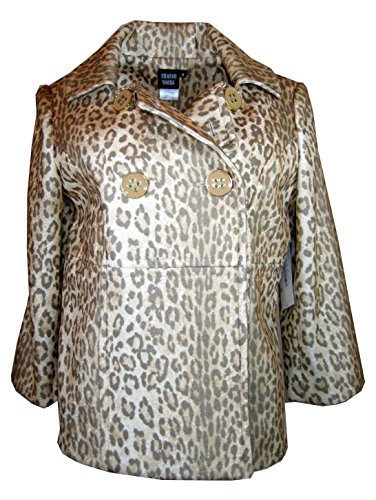 Sharon Young Long Sleeve Animal Print Jacket, Size-m
