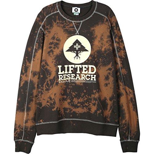 LRG Mens Grease Monkey Crewneck Sweater Sweatshirts Large Dark Charcoal
