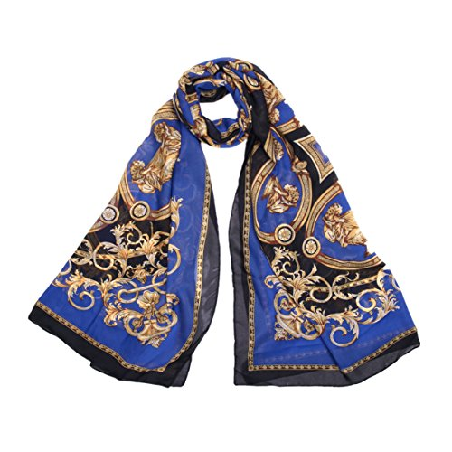 IvyFlair-Vintage-Royal-Floral-Lion-Wine-Glasses-Print-Silk-Feel-Scarf-Wrap