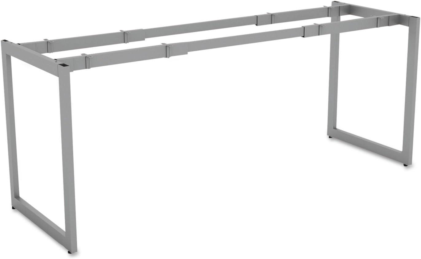 Alera LSTB24GR Open Office Desk Series Adjustable O-Leg Desk Base, 24-Inch Deep, Silver