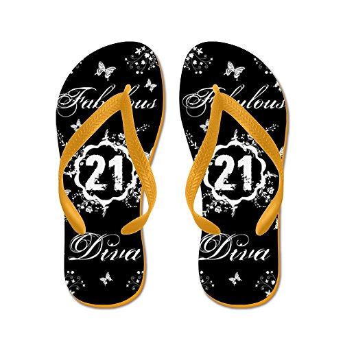 CafePress 21St Birthday Fabulous - Flip Flops, Funny Thong Sandals, Beach Sandals Orange