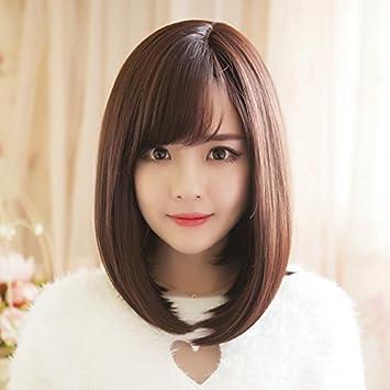 Amazon Com Korean Wig Women Girls Female Short Hair Small Waves Of