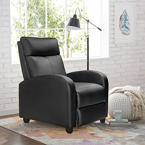 Homall Recliner Padded Leather Living Room Recliner Home Theater