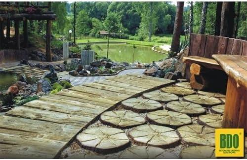 Pequeño tronco - madera-efecto concreto decorativo losa de adoquines para jardín y patio: Amazon.es: Bricolaje y herramientas