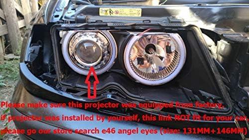 131 mm Blanco Algodón LED ángel Eeys Anillo de Halo para BMW E36 ...