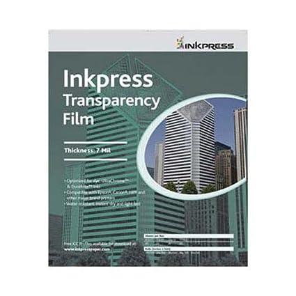 Amazon com: Inkpress Transparency Film, 10 mil , 8 5x11