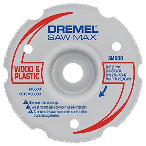 Plastic Cut Thick - Dremel SM600 3-Inch Wood & Plastic Flush Cut Carbide Wheel