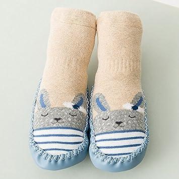 XIU*RONG Calcetines Y Medias De Bebé 3-6-12 0 Meses 1-2 Años Baby Socks 2 Pares De Calzado Y Suelo Resbaladizo: Amazon.es: Deportes y aire libre