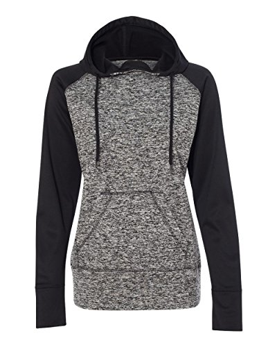 Fleck Jumper (J. America - Women's Pullover Sweatshirt - 8618-MD-Chrcol Flck- Black)
