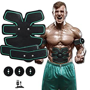 [New Version 2017] Abdominal Toning Belt, Waist Trimmer Belt, ABS Toner Body Muscle Trainer, Abs Fit Training, Unisex Fitness Training Gear, Home Fitness Training Gear Support For Men & Women