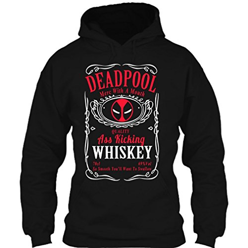 Merc With A Mouth Whiskey Deadpool Hoodie