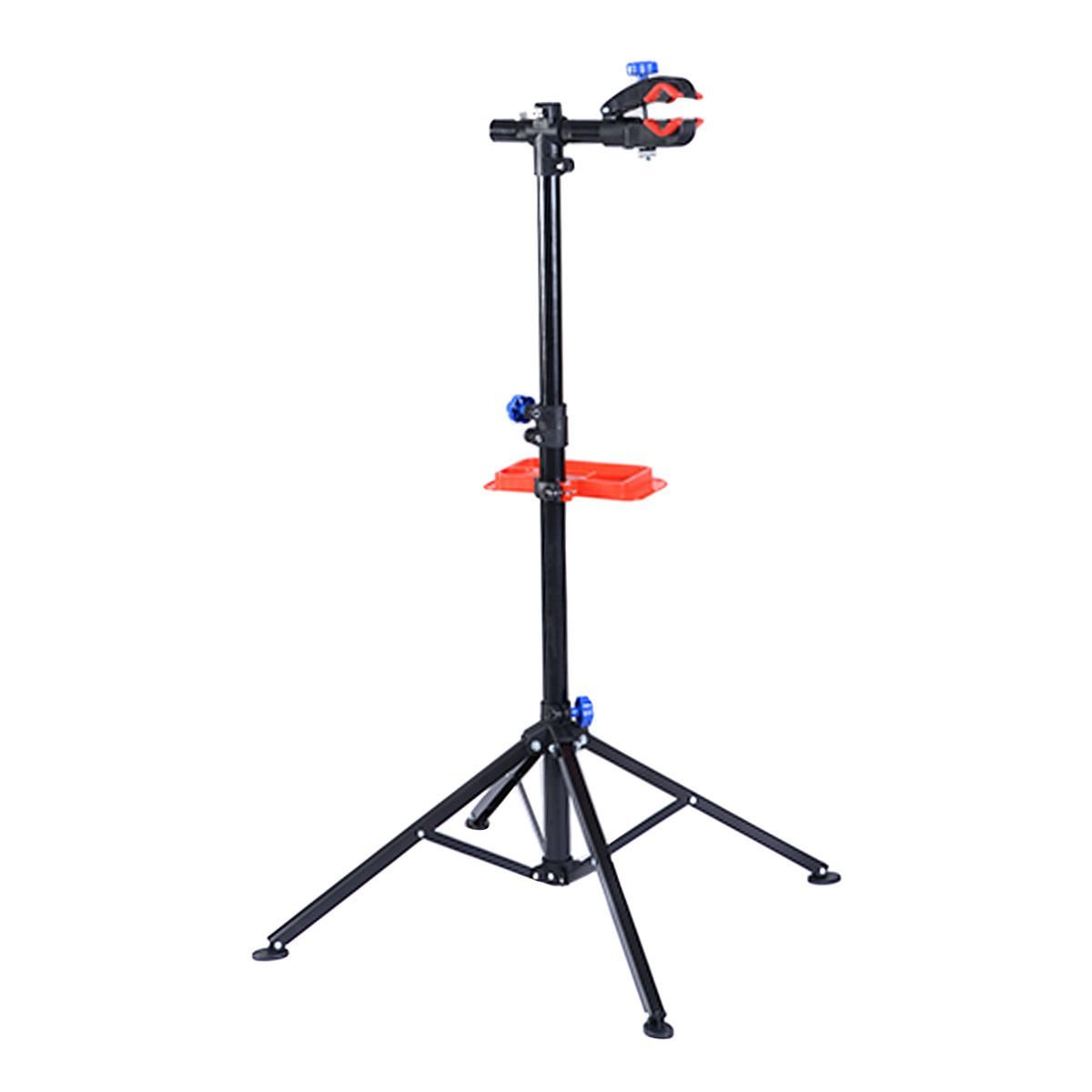 S AFSTAR Pro Mechanic Bike Repair Stand Adjustable 41'' To 75'' Cycle Rack Bicycle Workstand with Tool Tray