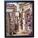Framed Creperie Cafe Bistro Tuscan Italian Villa Print