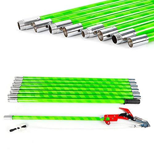 Reach Long Pole (TFCFL Extendable Tree Pruner Garden Tool Pole Saw Branch Long Reach Limb Cutter 26 ft US Warehouse)