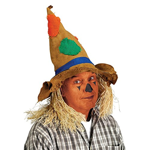 Pack of 6 Multi-Colored Pointed Scarecrow Halloween Costume Party Hats by Party Central
