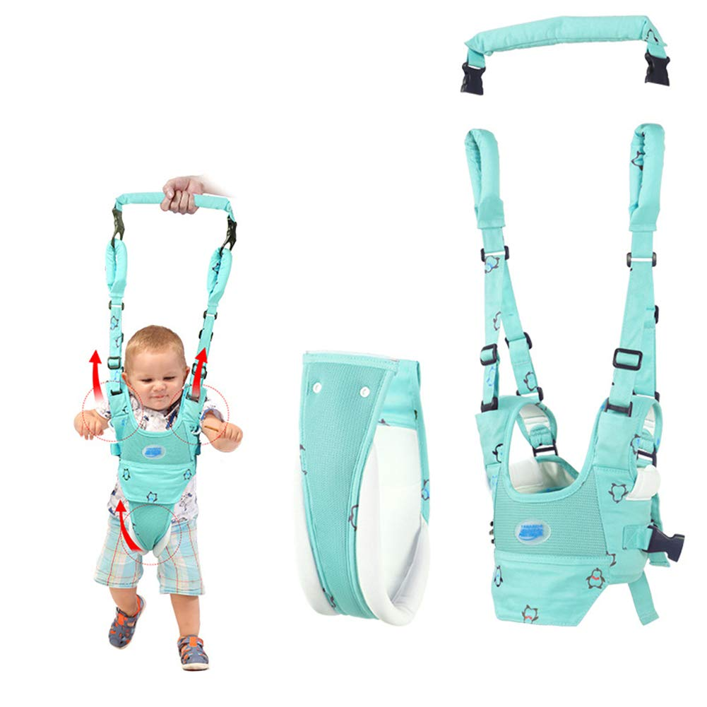 Baby Walker Toddler Walking Assistant by Autbye, Stand Up and Walking Learning Helper for Baby, 4 in 1 Functional Safety Walking Harness Walker for Baby 7-24 Months (Wathet Blue)