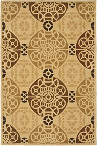Safavieh Capri Collection CPR353B Handmade Gold and Multi Premium Wool Area Rug (4' x 6')