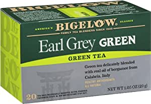 Bigelow Earl Grey Green Tea, 20-Count Boxes (Pack of 6)