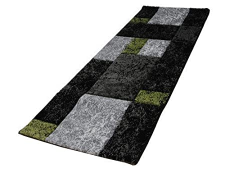 Acerto FRIESE2 40162 Rug 80 X 150 CM Expressive Design And Modern, Bright  Green Colours