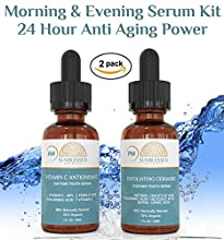 SunBlessed Botanicals Anti Aging Serum Set is the PERFECT elixir for radiant, glowing skin. Are you looking for an effective anti aging skin care product? Are you looking for a healthy solution to make your skin look not only healthier, but y...