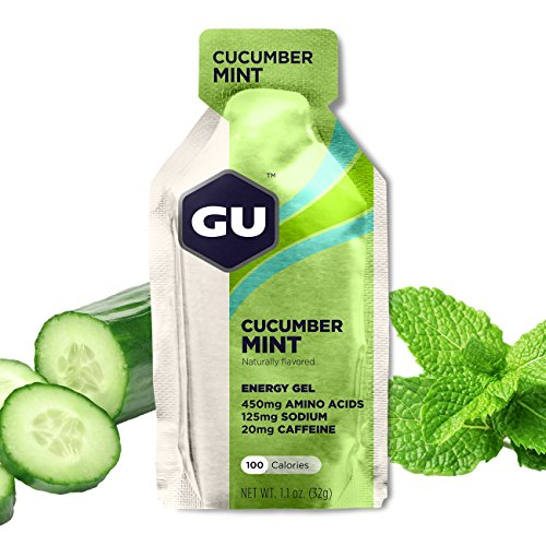 GU Energy Labs Original Sports Nutrition Energy Gel, Cucumber Mint, 24 Count