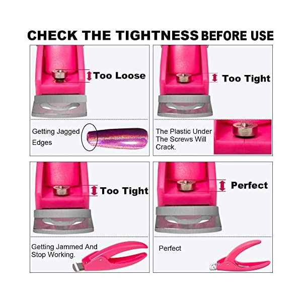 Pink Adjustable Artificial Acrylic Fake Nail False Nail Tip Clipper Cutter Trimmer Manicure Pedicure Sharp Blade Clip…