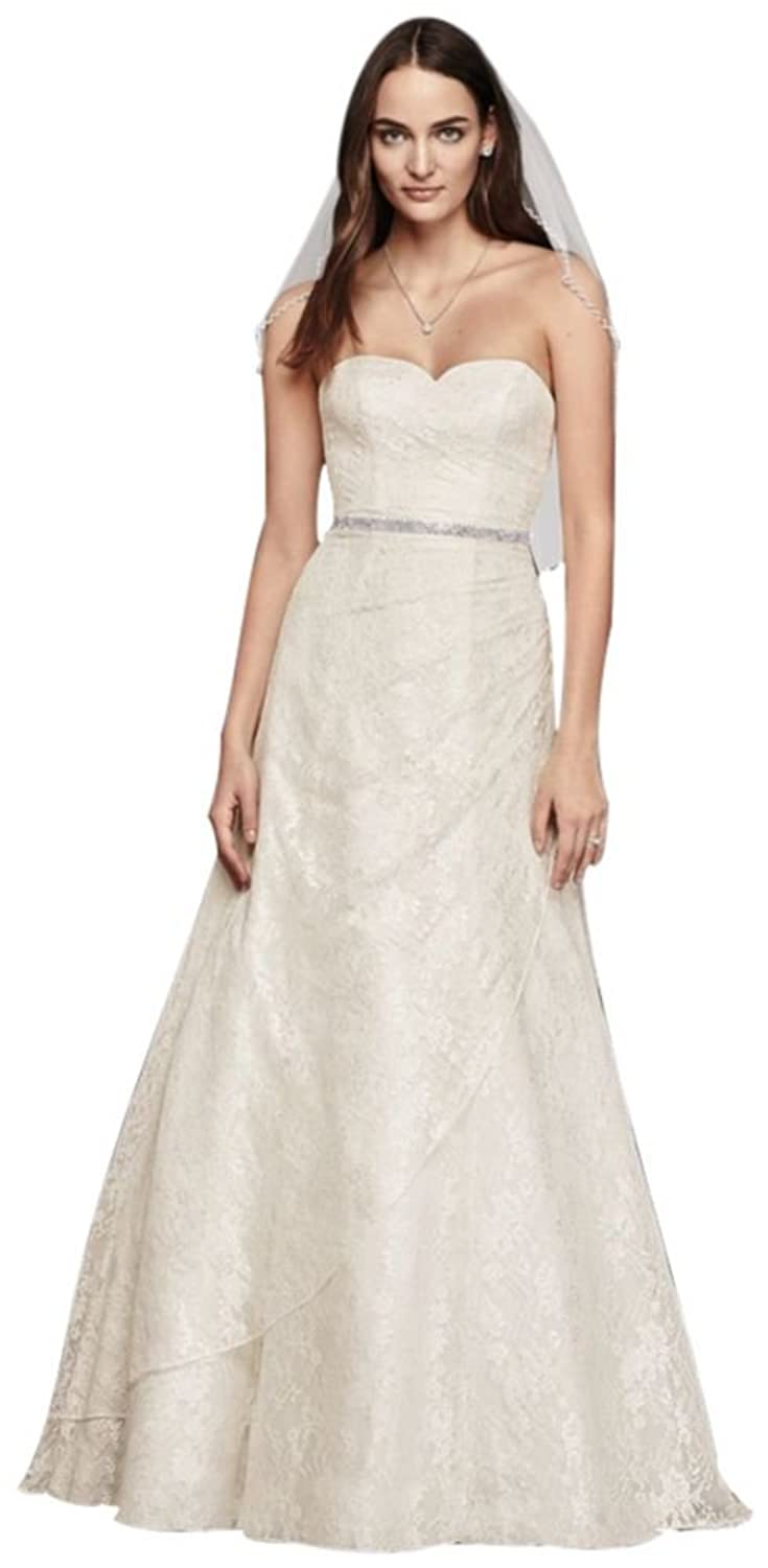 Allover Lace A-Line Strapless Wedding Dress Style WG3805 at Amazon ...