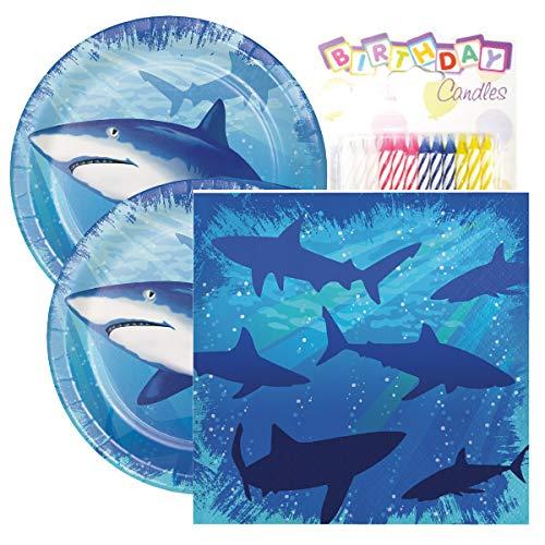Shark Splash Birthday Party Pack - Includes 7