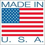 "Aviditi USA504 Patriotic Label,""Made in U.S.A."", 4"" Length x 4"" Width, Red/Blue on White"