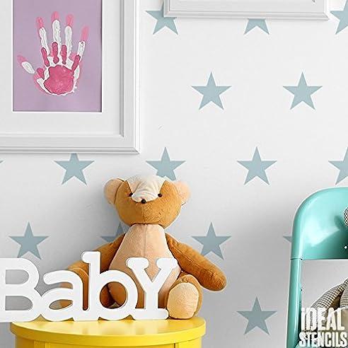 sterne dupliziert muster kinderzimmer wand schablone jungen mdchen kinderzimmer heim wand dekoration handwerk schablone - Kinderzimmer Dekoration Handwerk