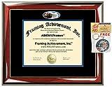 Liberty University Diploma Frame Graduation Gift Idea Engraved Picture Frames Engraving Degree Certificate Holder Graduate Him Her Nursing Business Engineering Education School