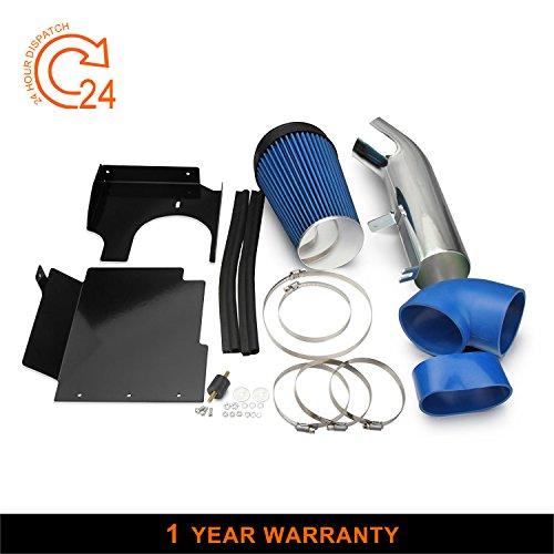 Chevy Blue Intake System - AutoHorizon Blue Cold Air Intake System w/Heat Shield For GMC Chevy V8 1999-2006