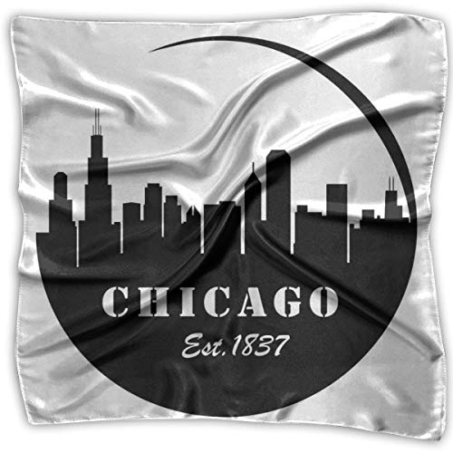 Bandana Head and Neck Tie Neckerchief,American Town Famous Urban Design In Black I Love Chicago Architecture - Chicago Cubs Silk Tie