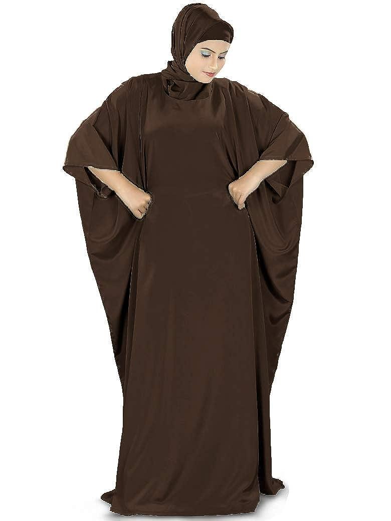 MyBatua Women's Muslim Kaftan, Free Size Abaya, Dubai Maxi Dress, Islamic Clothing KF-001