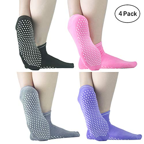 Sticky Grippers Non Skid Socks ELUTONG 1-4 Pack Floors Slip Socks For/Men/Women