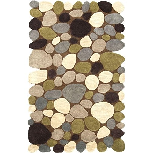 nuLOOM Pebbles Collection Contemporary Hand Made Area Rug, 7-Feet 6-Inch by 9-Feet 6-Inch, Brown