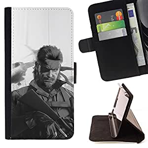 For Sony Xperia m55w Z3 Compact Mini Metal Gear S0Lid Snake Beautiful Print Wallet Leather Case Cover With Credit Card Slots And Stand Function