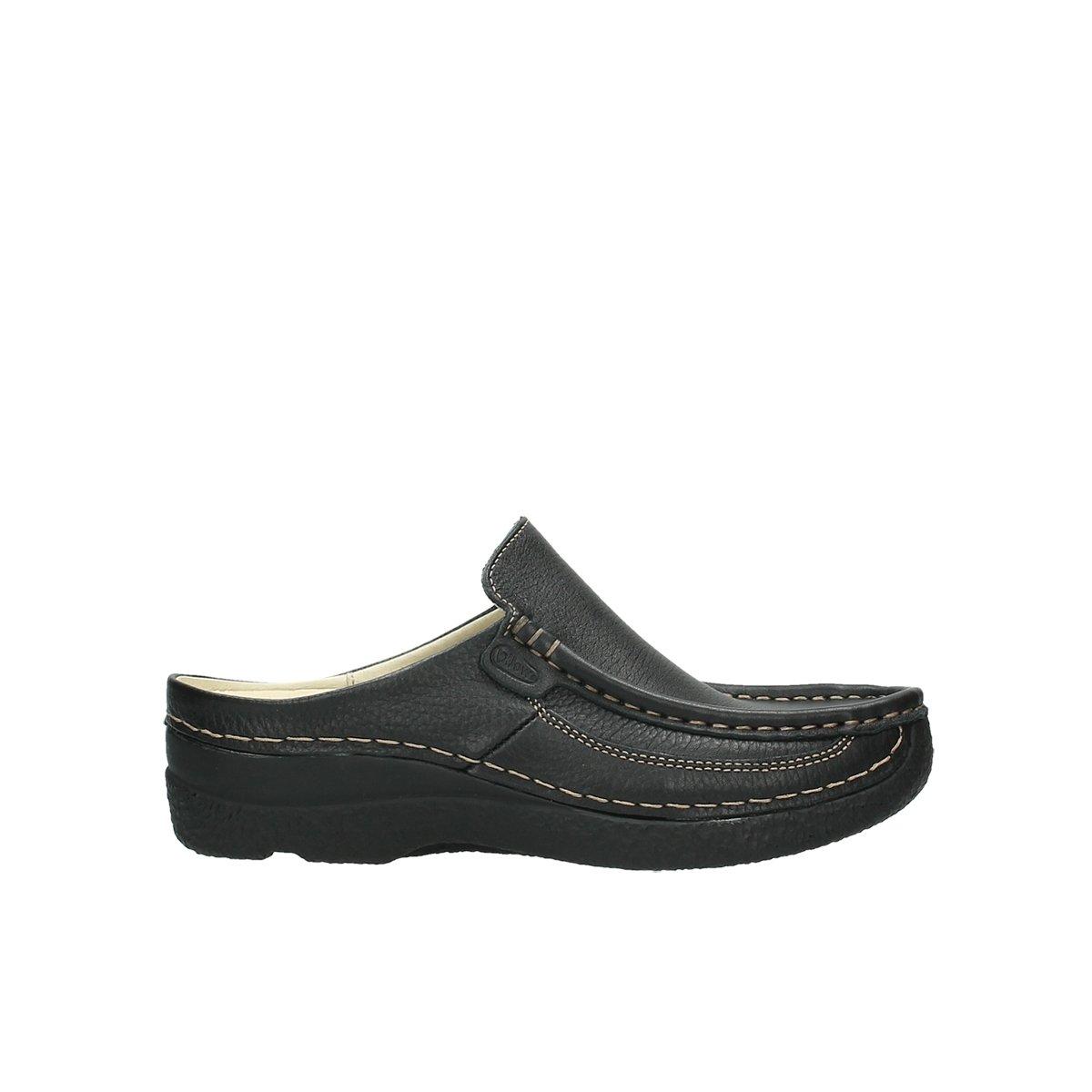 Wolky comodidad sandalias 06202 rollo diapositiva 40 EU 70000 Black Printed Leather