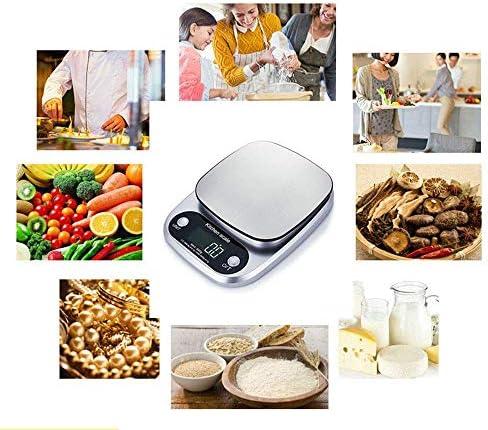 HAO Cocina Digital Básculas de Cocina precisas Básculas de Cocina Digitales, de Alta precisión, Mini básculas de Cocina, Funciones de Tara, Acero Inoxidable, para Ingredientes, Jewelr
