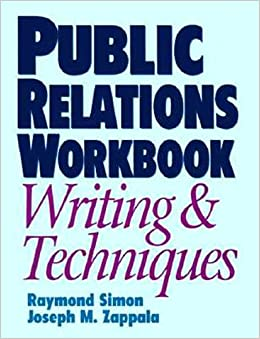 Book Public Relations Workbook: Writing and Techniques