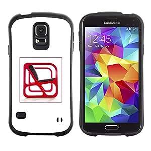 "Pulsar iFace Series Tpu silicona Carcasa Funda Case para Samsung Galaxy S5 , Arte Interior Silla Diseño Red abstracta moderna"""