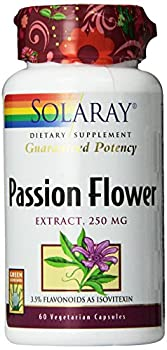 Solaray Passion Flower Extract Supplement, 250 mg, 60 Count