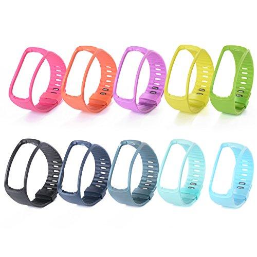 XCSOURCE® 10STK Silikon Ersatz Armband Schnalle mit Klammer für Samsung Gear Fit SM-R350 Armband TH100